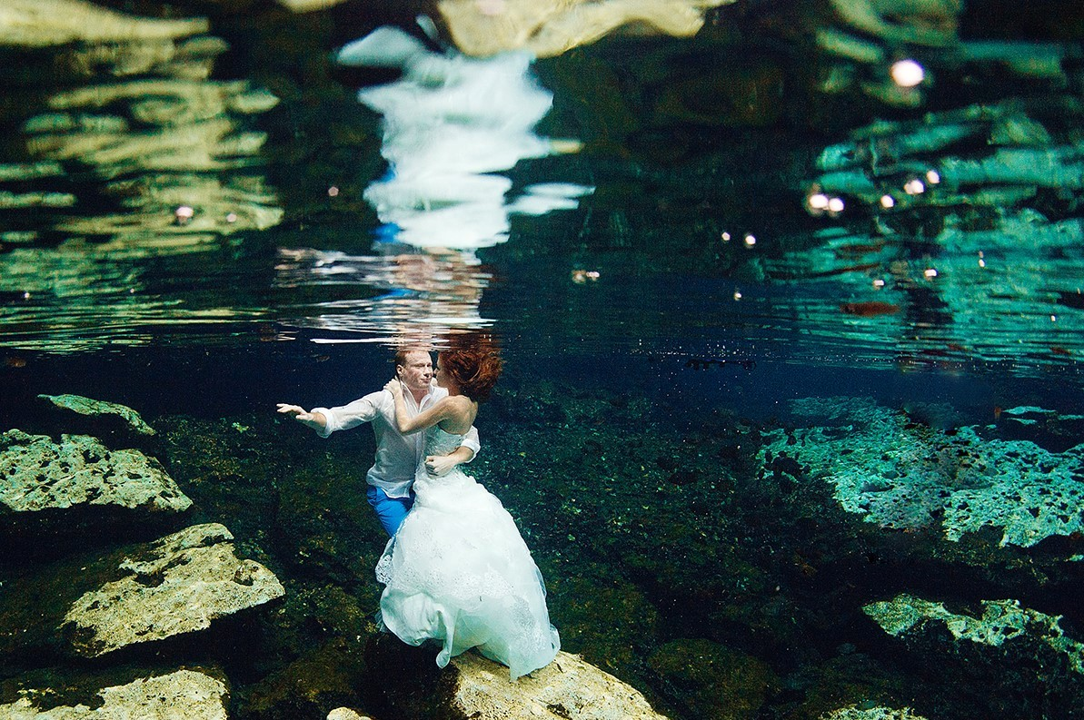 wedding in mexico, riviera maya underground river